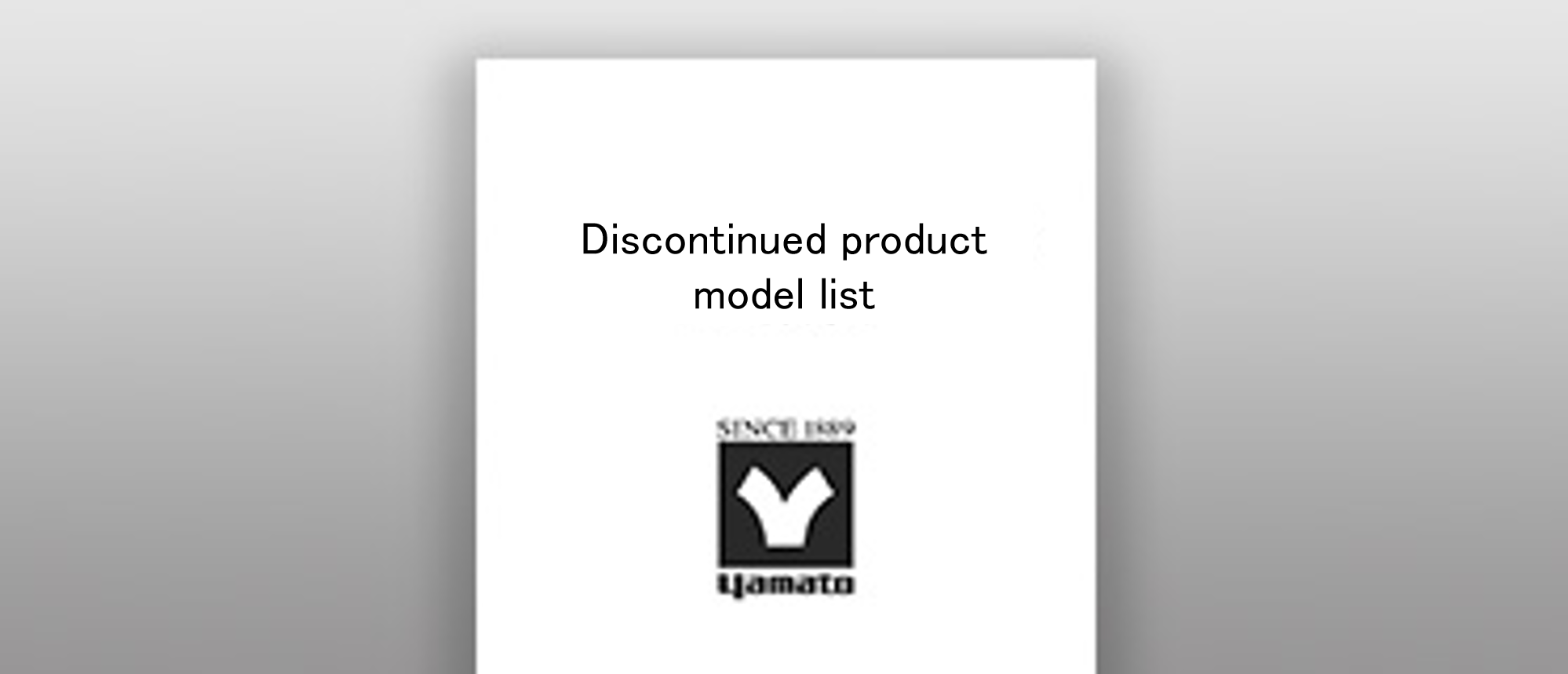 Discontinued product model list
